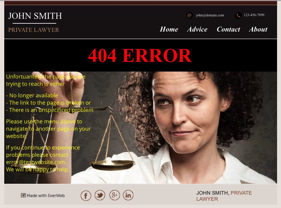 404 Page Not Found error trapping page