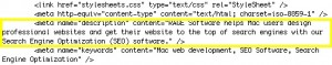 Meta Description In HTML Source Code