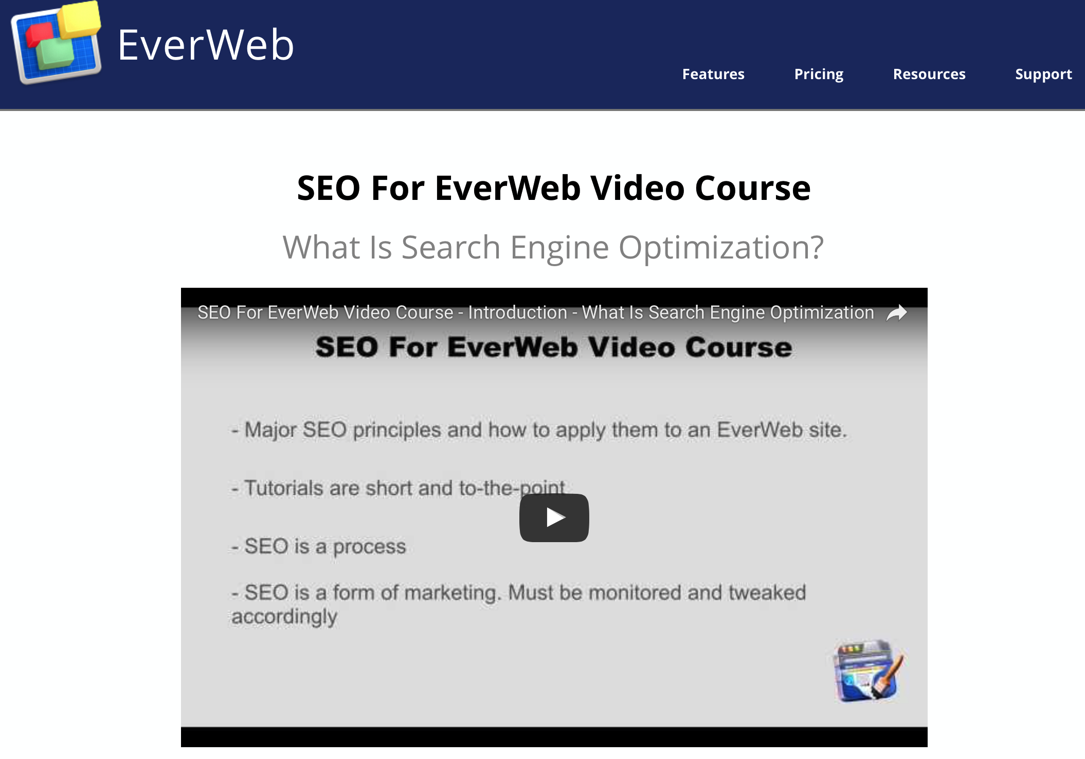 EverWeb SEO Course