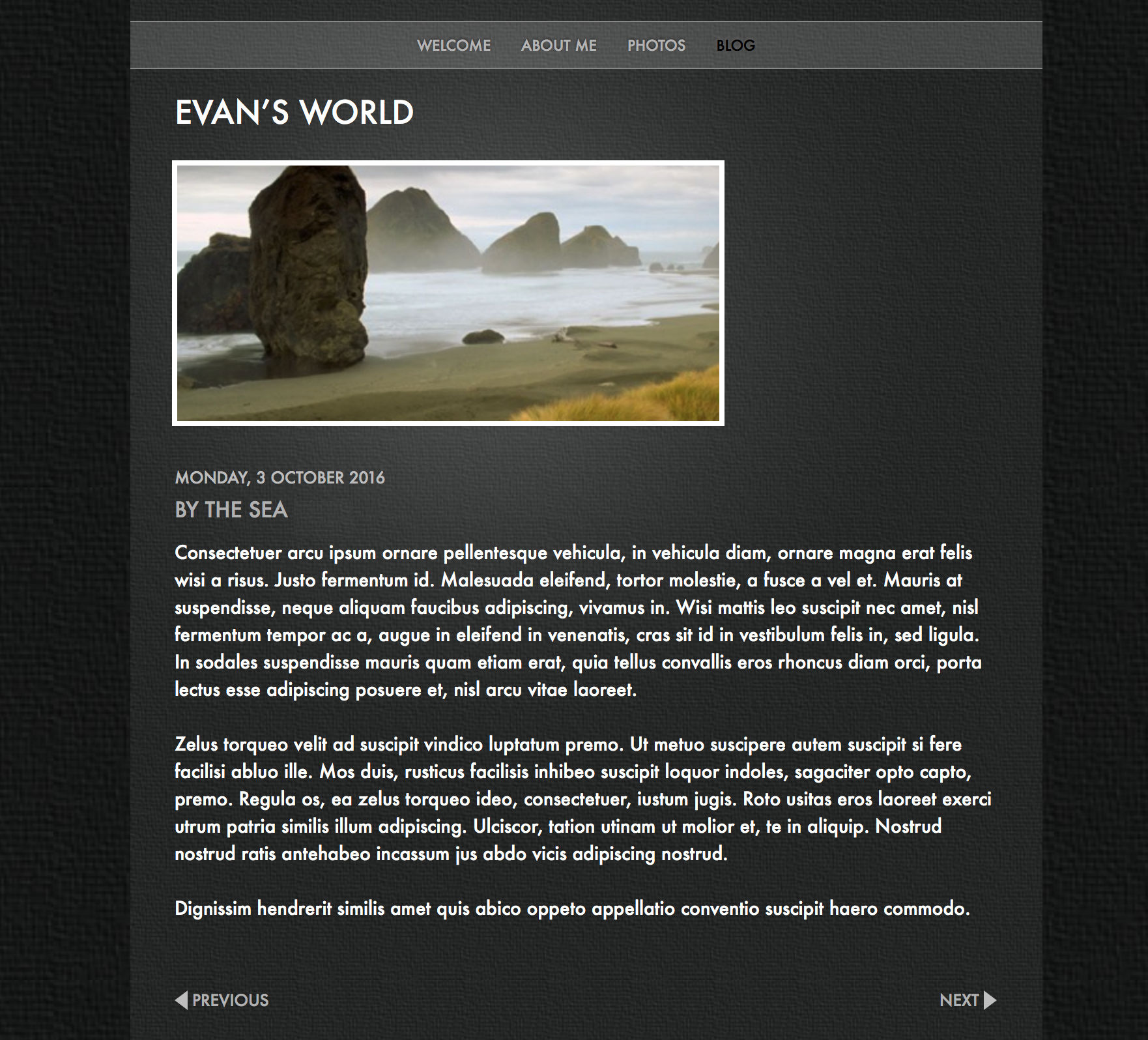 The original blog entry from iWeb can be easily recreated in the new version of EverWeb