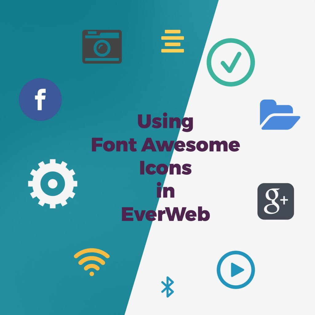 Font Awesome Icons in EverWeb