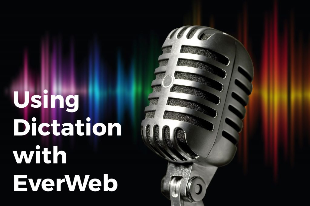 Using Dictation in with EverWeb