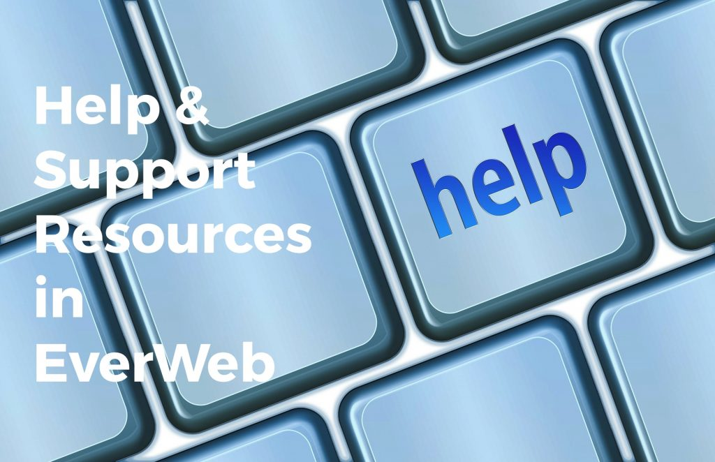 Help and Support Resources in EverWeb