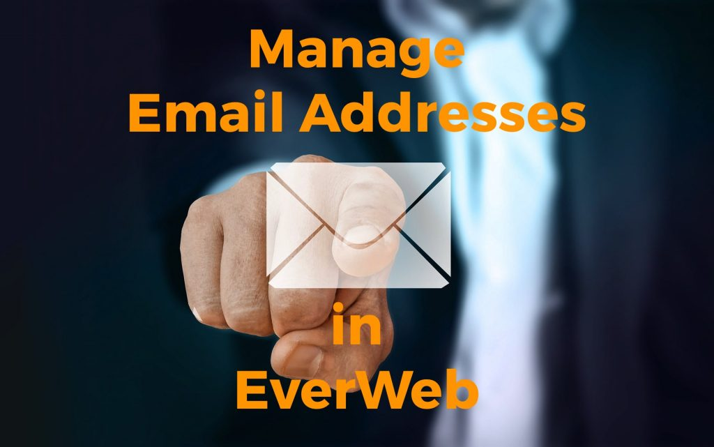 Manage email addresses in EverWeb