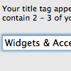 Easily Edit Your iWeb Title Tags