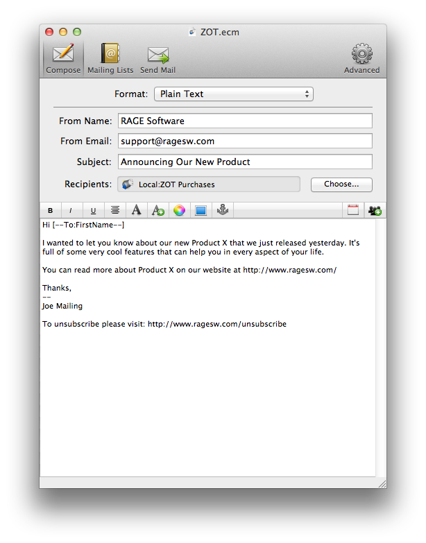 Send out Plain Text and Professional HTML Emails