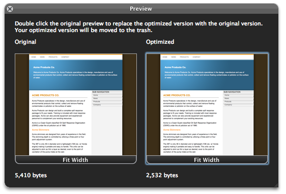 Compare Your Original Webpage & Your Optimized Webpage Side-by-Side